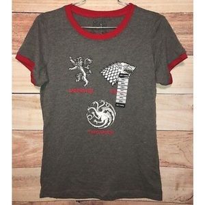 HBO Game Of Thrones Gray T-shirt Short Sleeves Sm